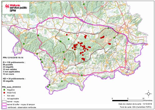 PPA: peste porcine africaine / propagation Kg000010