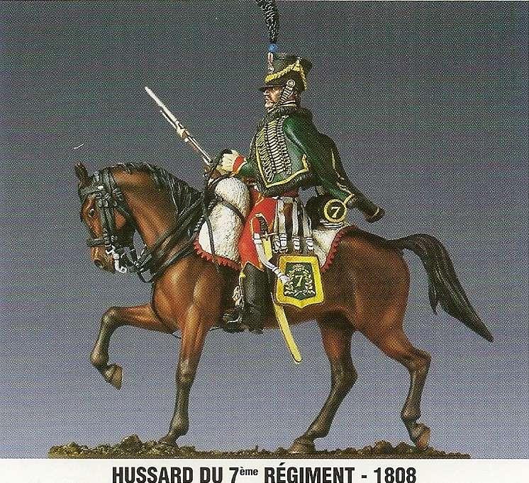 Hussard du 7ème régiment 1808 Numari27