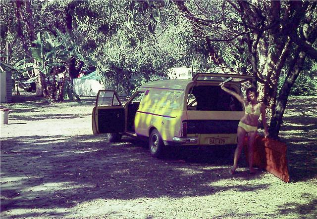 My Van in late 1972 at the snowy mountains Getatt10