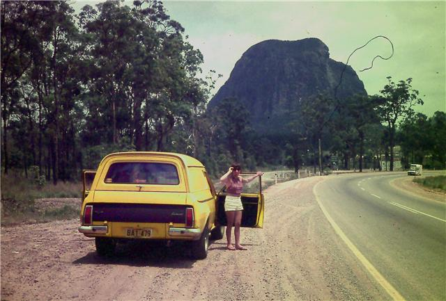 My Van in late 1972 at the snowy mountains Hg210