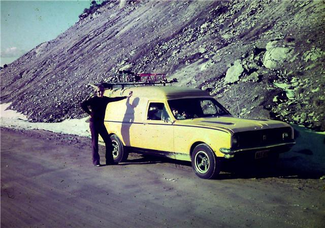 My Van in late 1972 at the snowy mountains Hg310