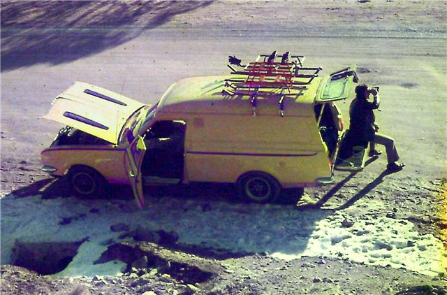 My Van in late 1972 at the snowy mountains Hg510