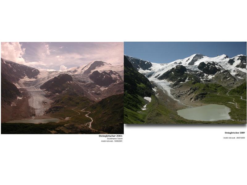 Fonte des glacier: Exemple, Le Steingletscher Steing14