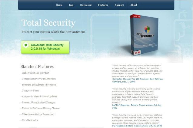 Total Security - Guida alla rimozione Ts110
