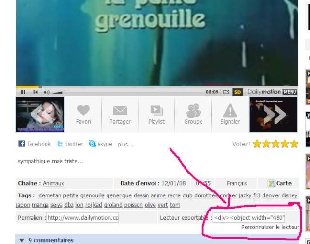 Comment mettre une vidéo (youtube, dailymotion) sur le forum  Daily10