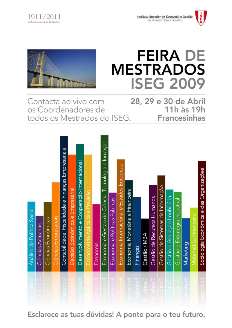 Feira dos Mestrados ISEG 2009/2010 - Dias 28, 29 e 30 de Abril Cartaz10