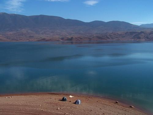 Le lac  BIN EL OUIDANE Camp_d11