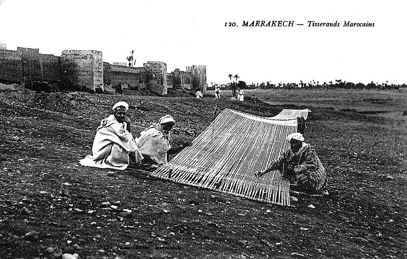 Les vieux métiers marocains... Tisser10