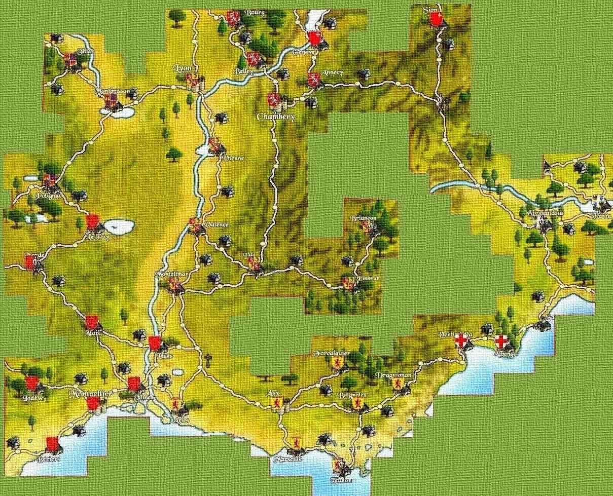 Carte de la Provence Carteg11