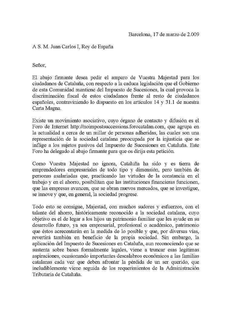 El Gabinete de Planificación y Coordinación de la Casa del Rei contesta Cartap10