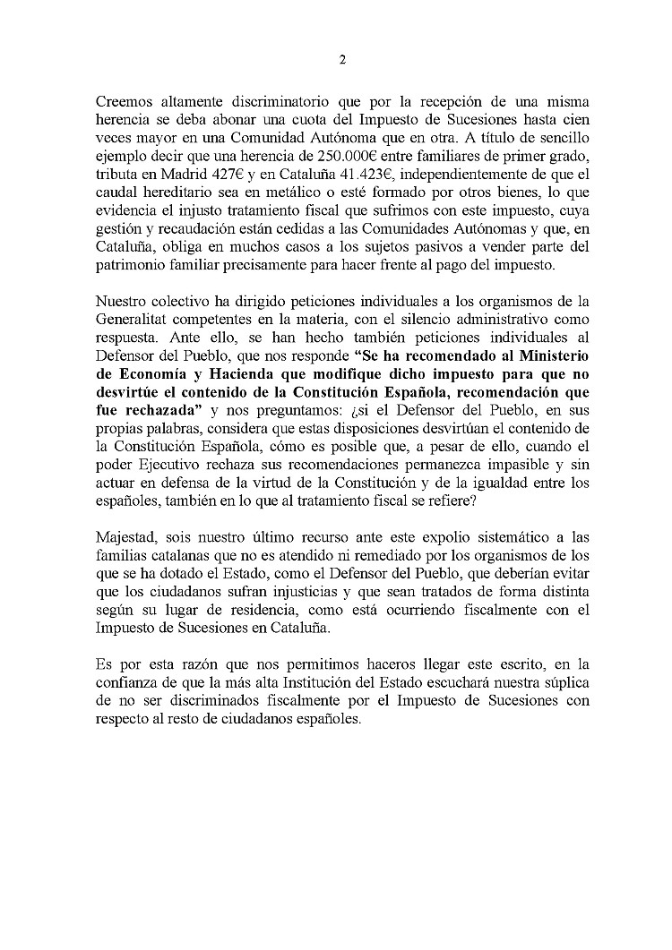 El Gabinete de Planificación y Coordinación de la Casa del Rei contesta Cartap11