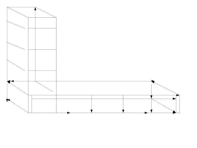 Construire un coin salon, banquette, lit, dans un tout petit espace, et à moindre cout. Banque11