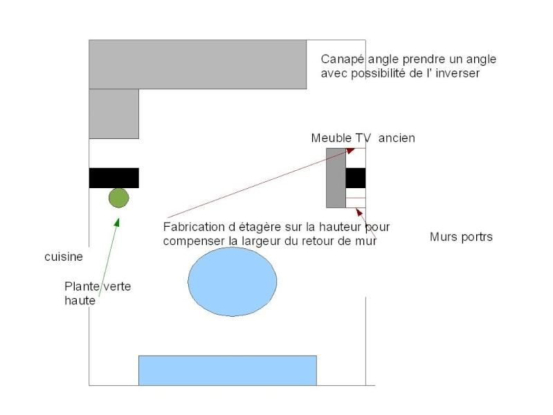 Modification d un coin canapé et chagement meuble tv version 2 Change12