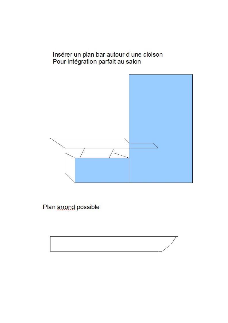 Intégrer un plan bar a un mur salon. Plan_b10