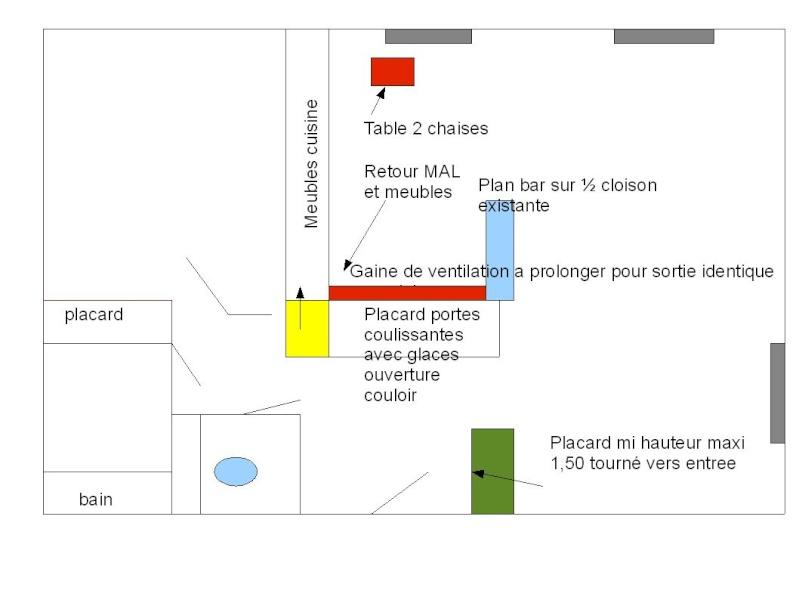 Organisation d un appartement, suppression de cloisons et creations de placards Steph_11