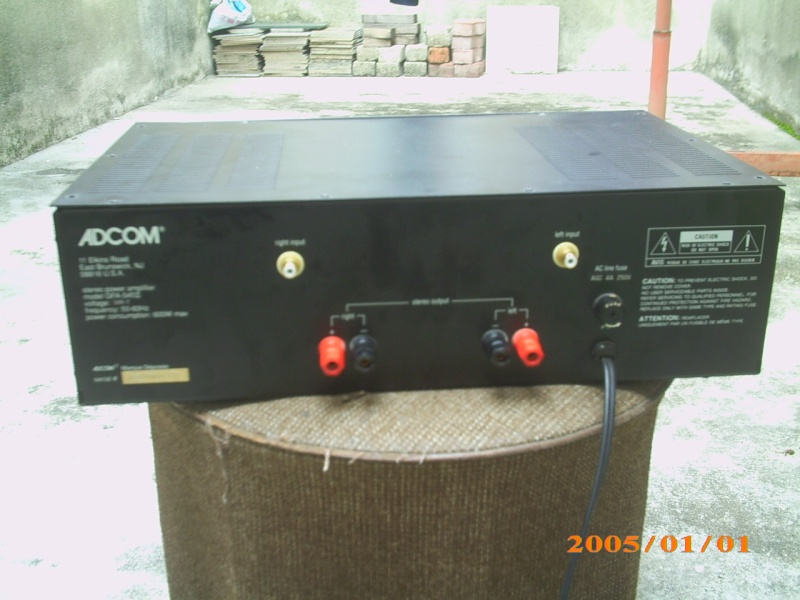 Adcom GFA-545 II power amp (Used)SOLD Img_0470