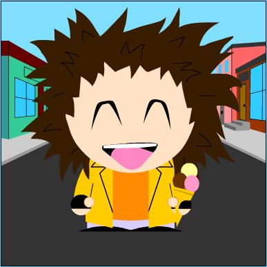 Faça um avatar de você mesmo estilo mangá e estilo South Park e estilo Simpsons ^^ 22-04-12
