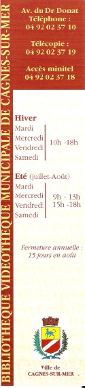 Bibliothèque municipale de Cagnes sur mer Numa2852