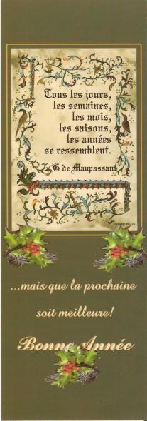 Joyeuses Fêtes en Marque Pages Numa4976