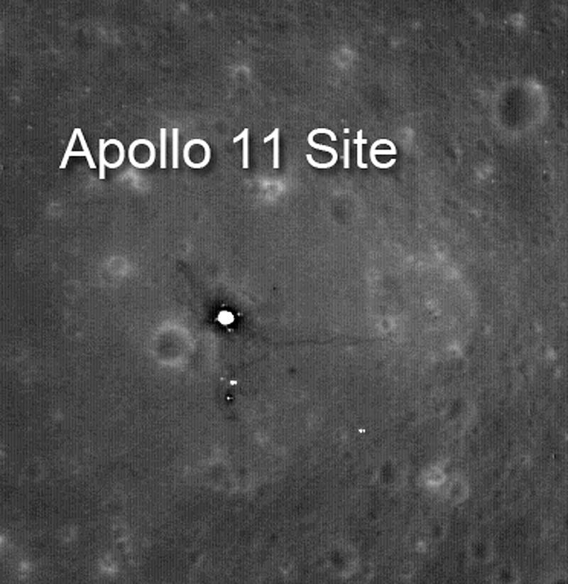 Apollo 11 par LRO Apollo14