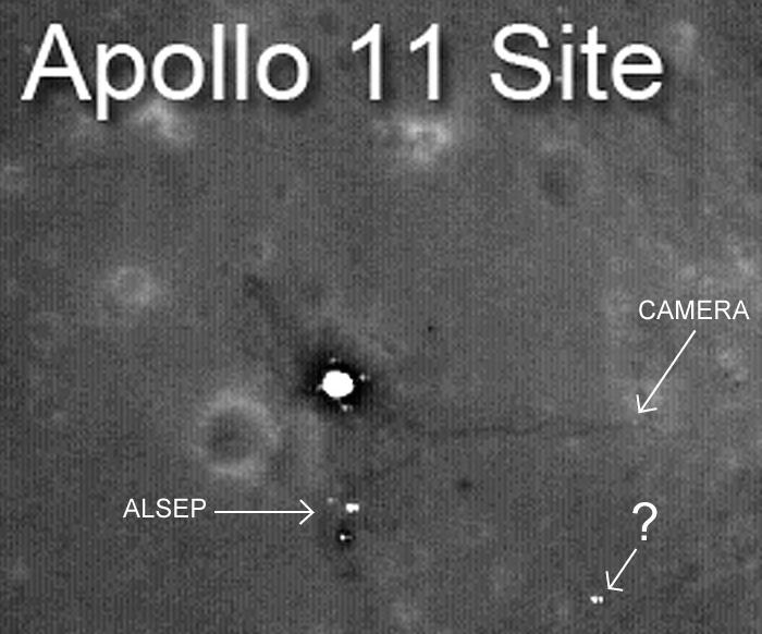 Apollo 11 par LRO Site1110