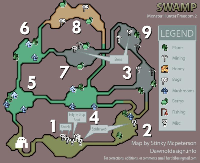 mapas de monster hunter freedom 2 Monste11
