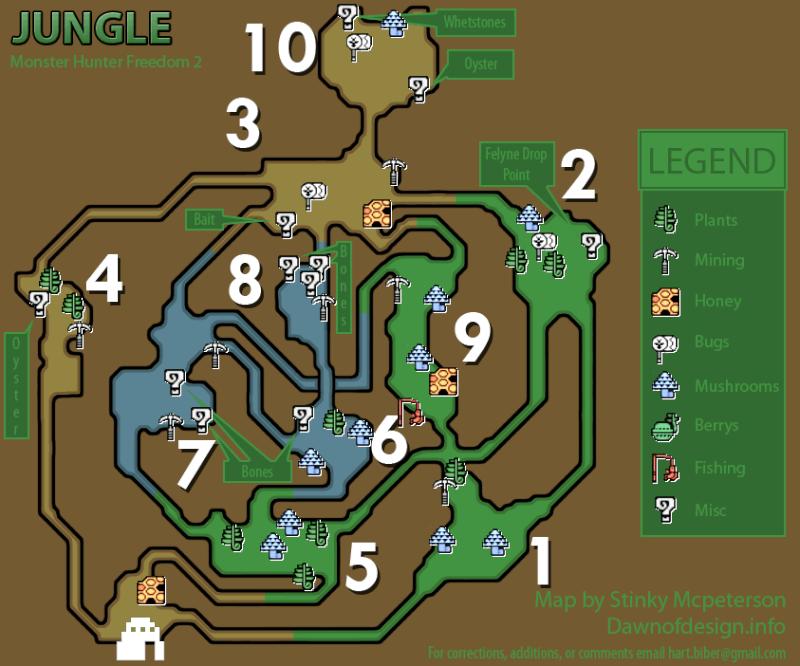 mapas de monster hunter freedom 2 Monste12