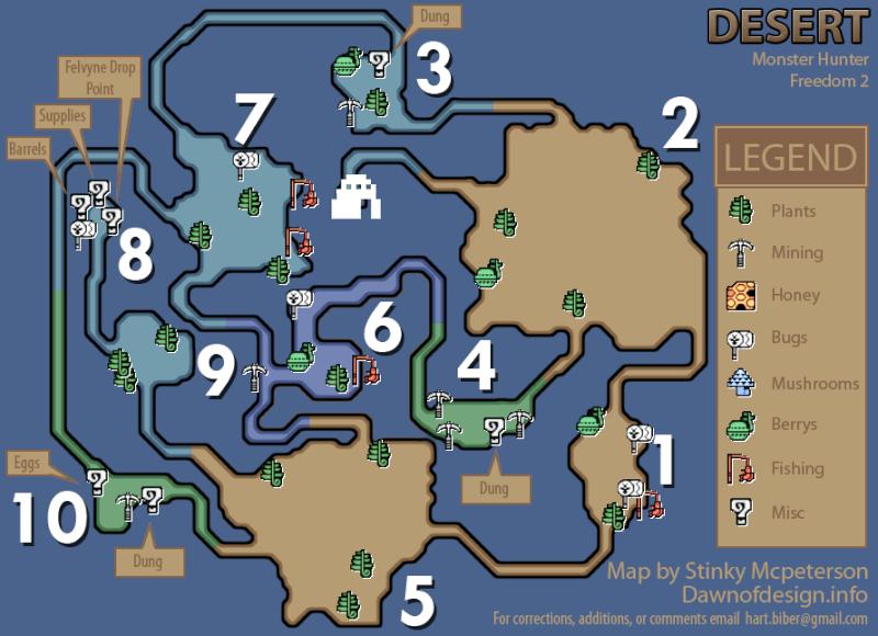 mapas de monster hunter freedom 2 Monste16