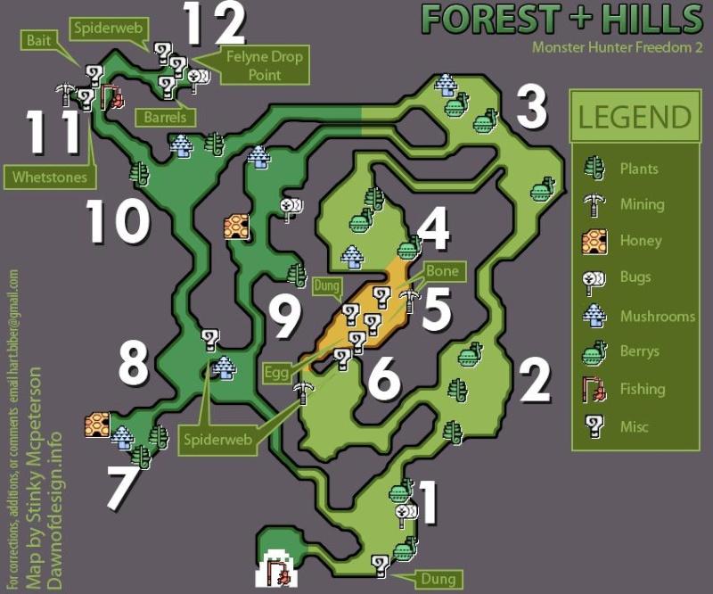mapas de monster hunter freedom 2 Montan11