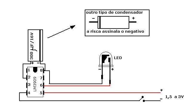 LED flash com LM339 60117-10