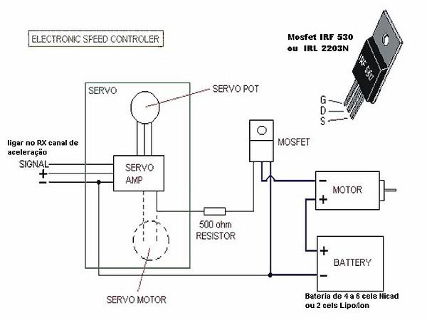 esc para motores escovados homemade Esc_se11