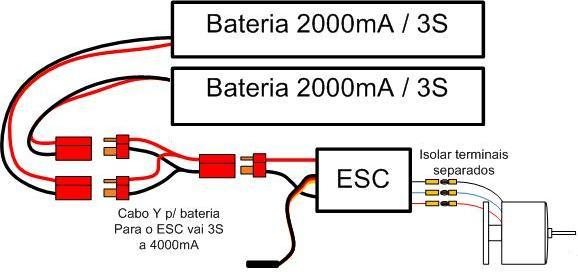 Como ligar a eletrônica avião Esquem10