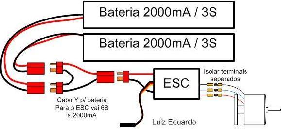 Como ligar a eletrônica avião Esquem11