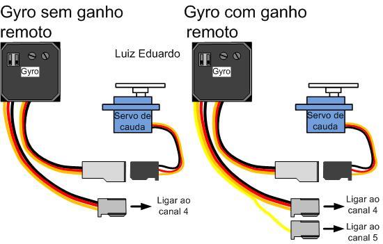 Como ligar a eletrônica avião Esquem13