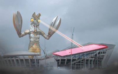 Stadium diserang raksasa ketam di Gong Badak Baltan10