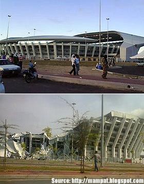 Stadium diserang raksasa ketam di Gong Badak Stadiu10