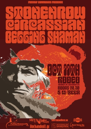 Postrip Community Presents: Stonenrow,Circassian, Begging Shaman Live @ Rodeo 11/10/09 4_10110
