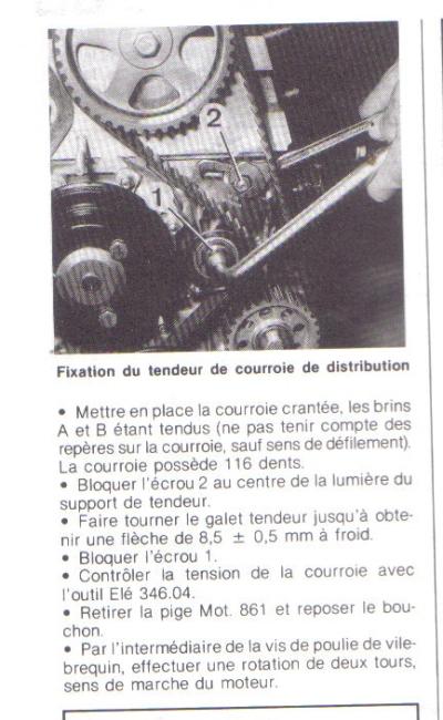 calage de la distribution de r 25 txi Calage12