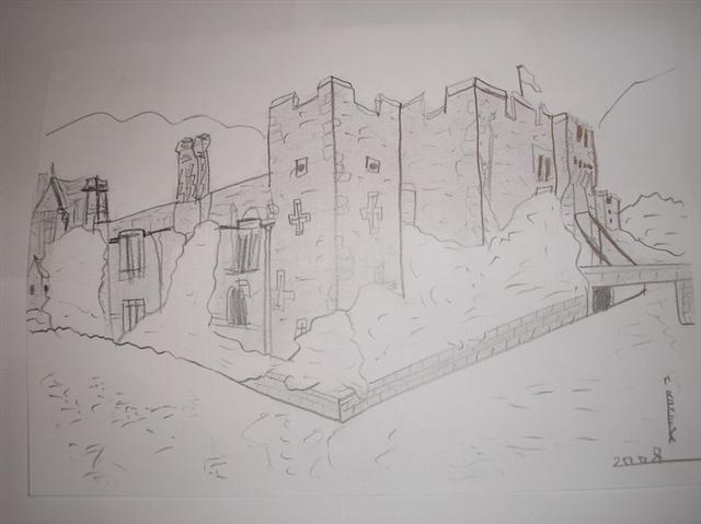 château en perspective Dessin22