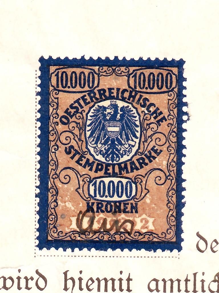 Die Verwendung von Fiskalmarken in Österreich 10218_11