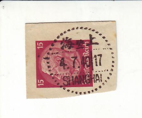 Hindenburg mit Shanghai Stempel 10250_10