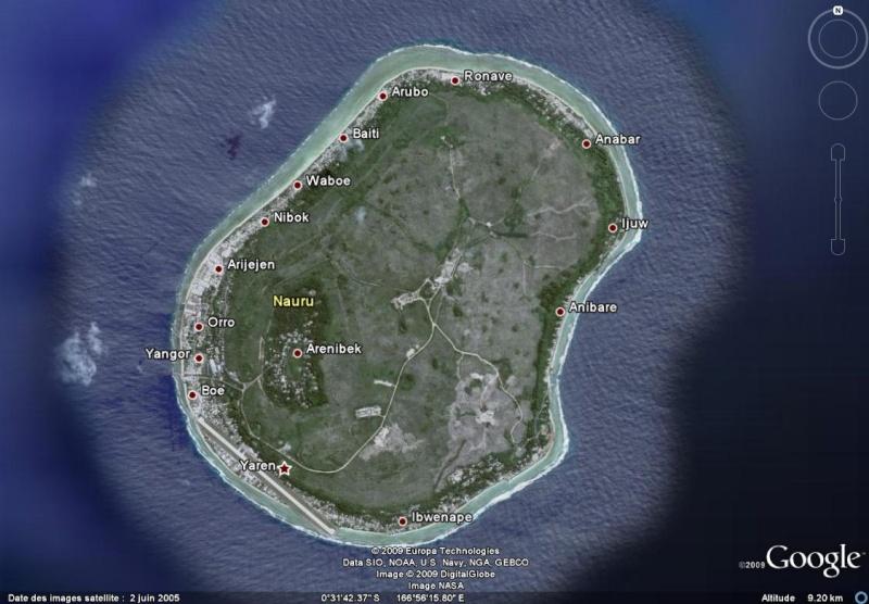 Nauru, le plus petit état non enclavé du monde. Nauru10