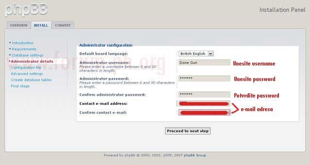 Instalacija phpBB3 foruma tj skripte 28c2cm10