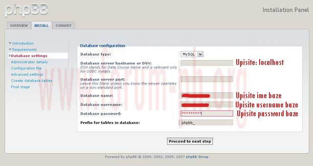 Instalacija phpBB3 foruma tj skripte A3jygn10