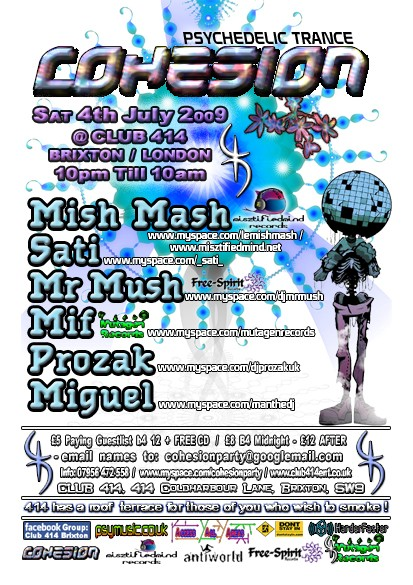 Cohesion - Psy Independance Sat 4th July, London / UK July_c10