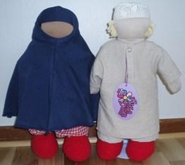 Muñecos sin cara para nuestros niños. Couple17