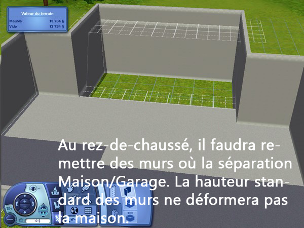 [Apprenti] Construction d'un garage accolé à une maison avec fondation. 1110