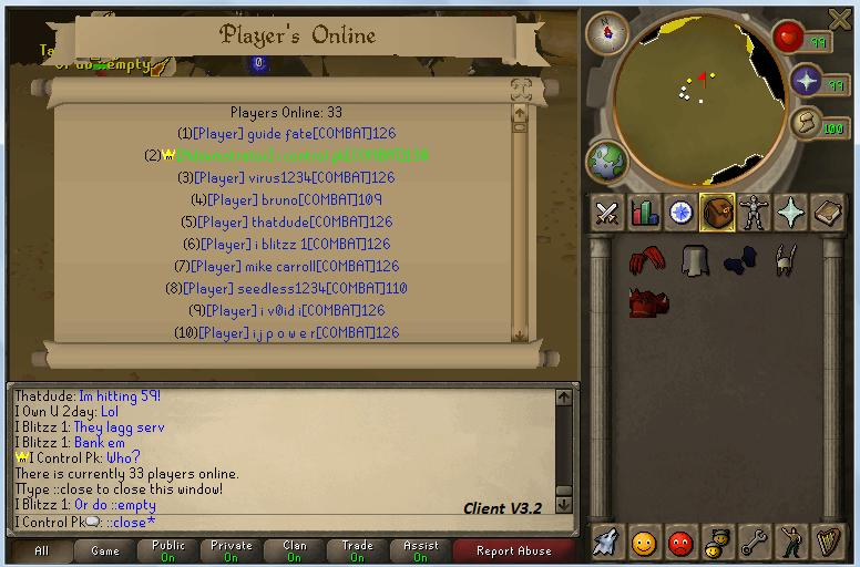 33 players on server wow~! 3310