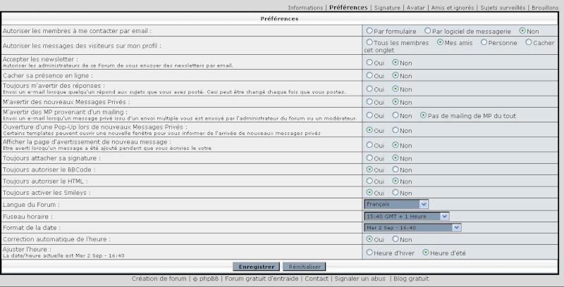 Boite Mail ---> message forum Pref110