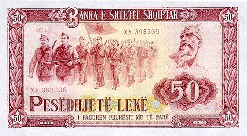 Kartmonedha  nga e kaluara Shqiptare 52dgjd10